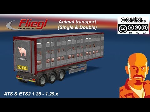 FLIEGL ANIMAL TRANSPORT (SINGLE & DOUBLE) ETS2 1.30.x