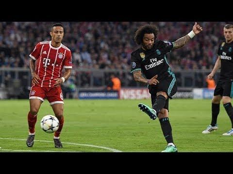 Gol do Real Madrid! Marcelo acerta belo chute no canto de Ulreich para empatar contra o Bayern!
