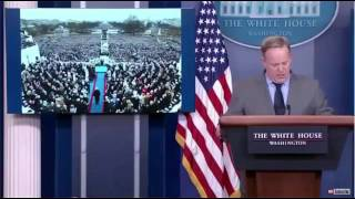 Sean Spicer 1st Press Conference Inauguration Crowd. Period!