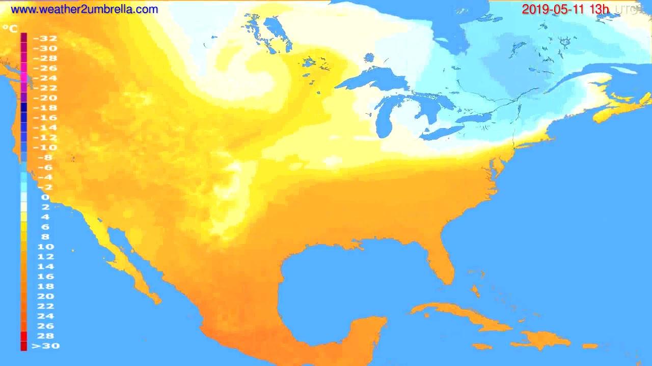 Temperature forecast USA & Canada // modelrun: 12h UTC 2019-05-09