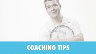 TENNIS LESSON. Relaxed forehand for power and control
