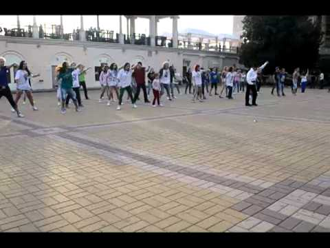 Флешмоб в Сочи в память Майкла Джексона