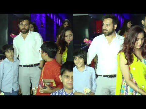 Emraan Hashmi WITH FAMILY SPOTTED AT HAKKASAN HD