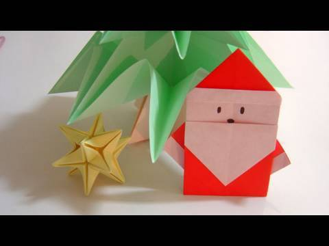 Origami p re no l educatout - Origami facile de noel ...