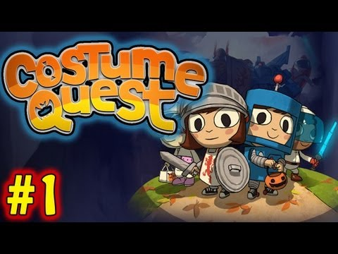 Trick or Treat! | Let's Play Costume Quest | Part 1 [Playthrough Walkthrough Gameplay]