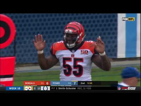 Video: Vontaze Burfict Ejected for Late Hit & Making Contact w/ Ref | Bengals vs. Titans | NFL Wk 10