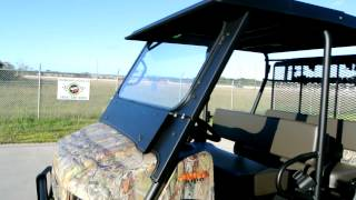 4. Custom Outfited: 2013 Kawasaki Mule 4010 Trans Camo with Lift, Steel Top and Windshield