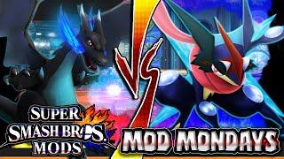 Super Smash Bros Wii U ASH GRENINJA VS MEGA CHARIZARD X (Smash 4/SSB4) Mod Mondays