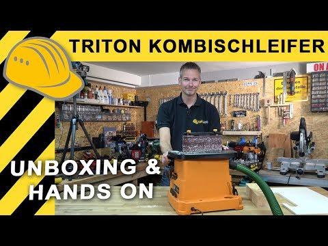 ANGETESTET: TRITON Bandschleifer & Spindelschleifer - Unboxing und erster Test - TSPST450