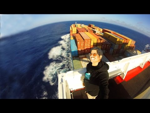 My friend needed to get back to Miami from Europe, instead of taking a plane he sailed on a cargo ship