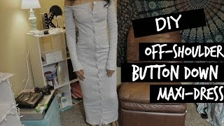 DIY Inspired by Karla Deras thelinebyk.Hello there, here is a new tutorial of a (bare with me) off-the-shoulder button down fitted dress Inspired by Karla Deras thelinebyk. I tried my best to make this tutorial as simple as possible. Please let me know if you had any questions. I really hope you enjoy this video.Thank you!!!Please Like & Subscribe! Fabric:WalmartHeather Gray, Ribbed Fabric $2 per Yard1.5 yardsMusic: Wingtip - Betterhttps://soundcloud.com/wingtipmusic/better-1Specs:Camera: Canon Rebel t5i/700D/Kiss X7iEditing Software: Final Cut Pro & iMovie (mainly)