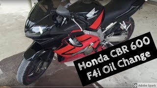 4. Honda cbr600f4i oil change