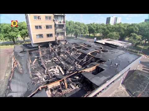 Instortingsgevaar geweken flatgebouw Eindhoven