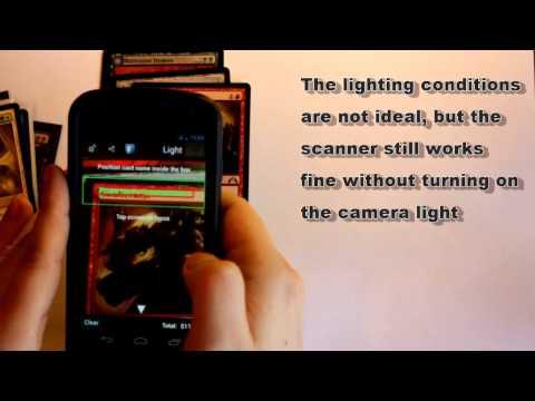 Video of MTG Magic Scanner