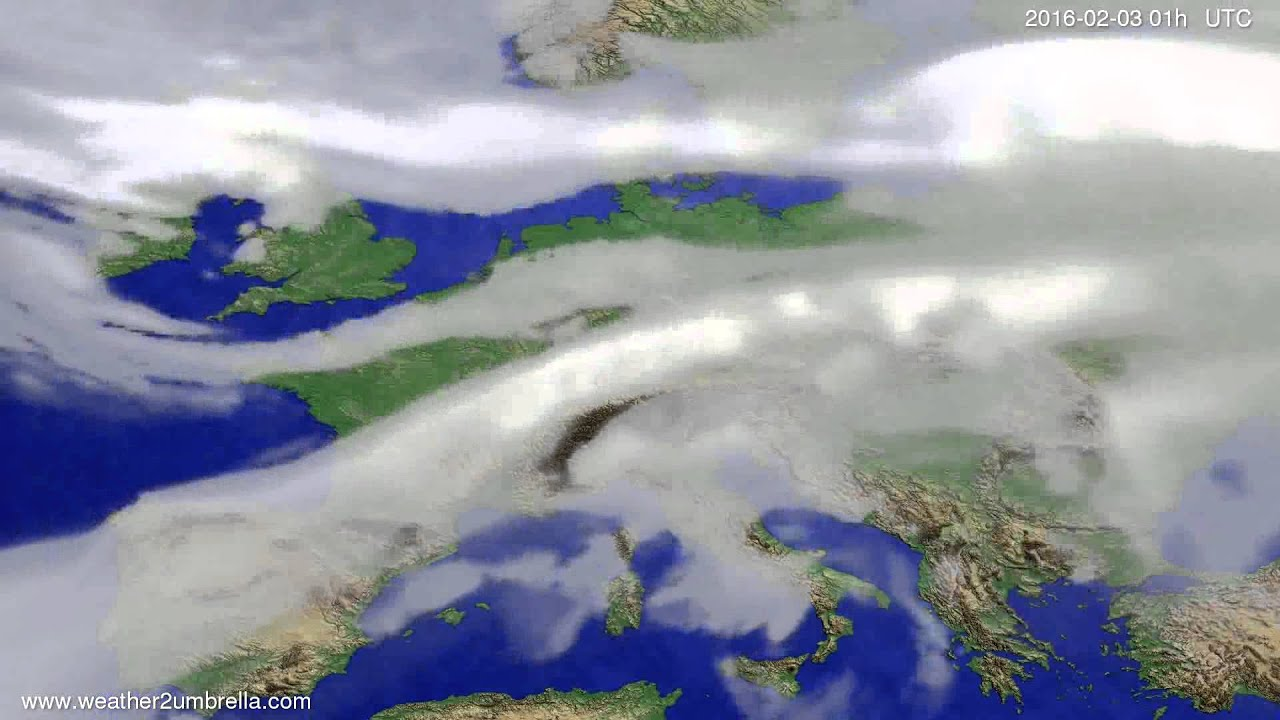 Cloud forecast Europe 2016-01-31