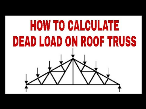 Roof Truss || Dead Load || Live Load || Wind Load Calculations part - 1