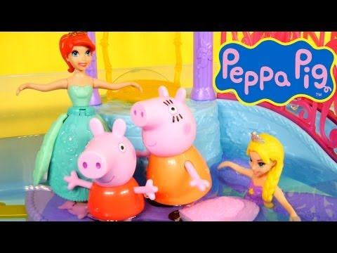 Peppa Pig Pool Party Play Doh Disney Petal Float Princess Water Palace Peppa and Mummy Pig Play-Doh