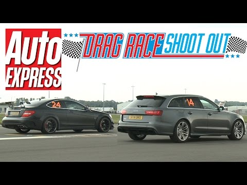 Audi RS6 vs Mercedes C63 AMG Black Series – Drag Race Shoot-out