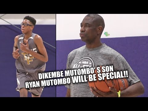 Dikembe Mutombo's Son Ryan Mutombo WILL BE SPECIAL!! HE'S ONLY 15!!