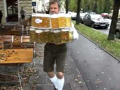 Guy drops all the beer(funny clip)