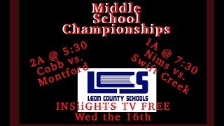 Year IV 2019-2020 2A Middle School Championship  Nims vs Swift Creek 2019