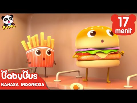 Hamburger dan Kentang Goreng | Kumpulan Film Hamburger | BabyBus Bahasa Indonesia
