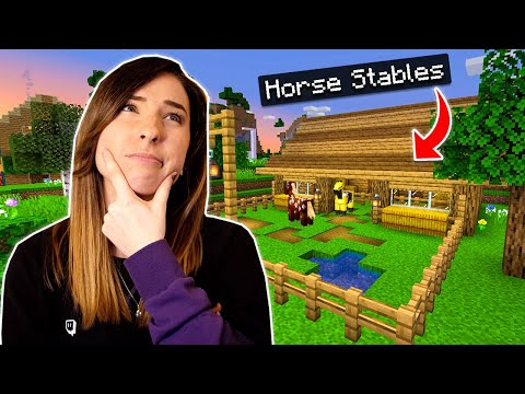 Building the CUTEST Horse Stables | Minecraft Survival SMP Ep 18