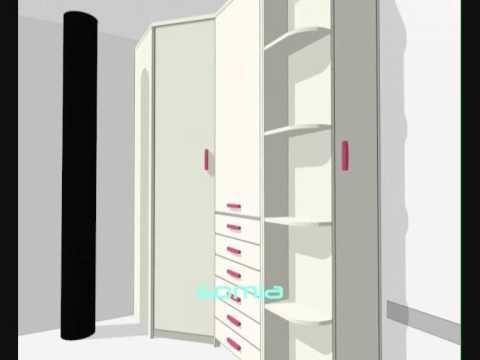Armario esquinero juvenil videos videos relacionados for Dormitorios juveniles con armario esquinero