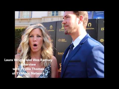 Daytime Emmy Awards 2018: Laura Wright and Wes Ramsey of General Hospital TVMusic Network Interview