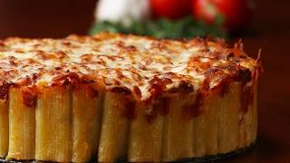 Cheesy Rigatoni Pie by Tasty