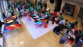 Comcast Cares Day time-lapse mural painting, Seattle International District