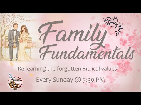 Teaser_Episode 1 || Family Fundamentals || Re-learning the forgotten Biblical values ||