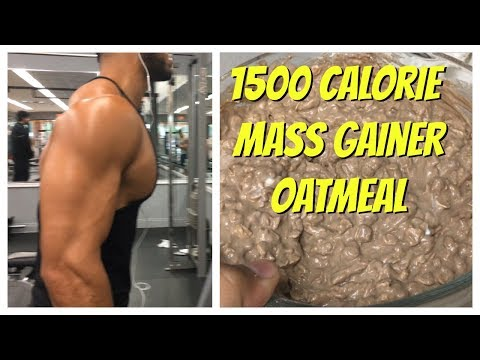 1500 Calorie Weight Gainer Oatmeal (91 GRAMS OF PROTEIN!)