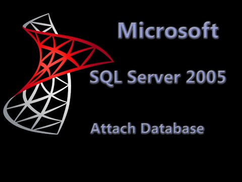 how to attach mdf file to sql server 2005