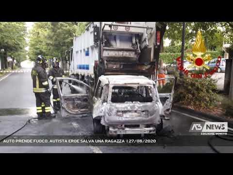 AUTO PRENDE FUOCO, AUTISTA EROE SALVA UNA RAGAZZA  | 27/06/2020