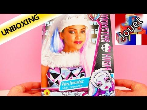 Se déguiser en la fille du yéti | Perruque Monster High Abbey Bombinable | Unboxing