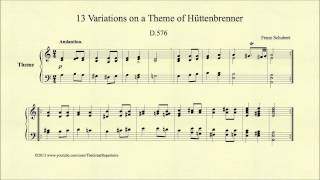 Schubert, 13 Variations on a Theme of Hüttenbrenner, D 576, Theme