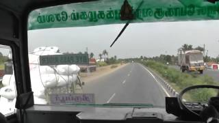 Erode India  City pictures : India Tamilnadu Perundurai to Bhavani bus route , Erode district year 2014