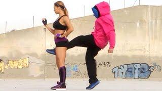 Kung Fu / MMA Girl vs 3 Kickboxing Guys | Martial Arts Action Scene