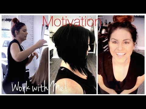 What's it like to be a Hairdresser?  Come to work with me  Hair VLOG #1
