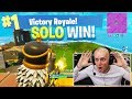 MY FIRST SOLO WIN?! *HIGHEST KILLS YET* - FORTNITE BATTLE ROYALE