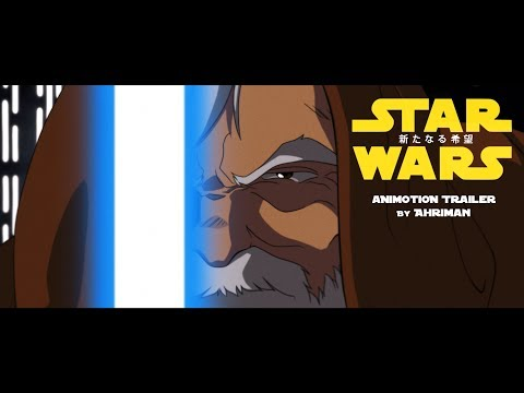 """""""STAR WARS: A NEW HOPE"""" Animotion Trailer"""