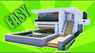 Minecraft: How To Build A Small Modern House Tutorial ( 2017 ) Mansion