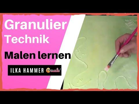 Acrylbilder malen – Granulier Technik – Die 7 besten Techniken zum Acrylbilder malen