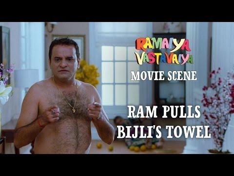 Video Ram Pulls Bijli's Towel - Ramaiya Vastavaiya Scene - Girish Kumar & Shruti Haasan download in MP3, 3GP, MP4, WEBM, AVI, FLV January 2017