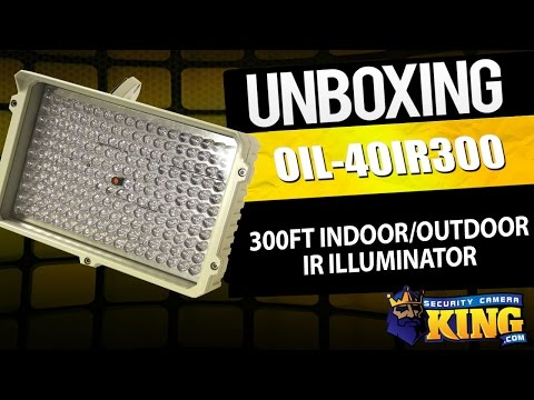 Unboxing - 300ft Indoor/Outdoor IR Illuminator - OIL-40IR300