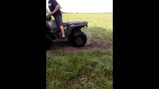 10. Spinning my quad tires