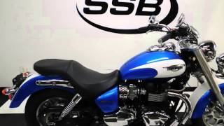 5. 2012 Triumph America Blue - used motorcycle for sale - Eden Prairie, MN