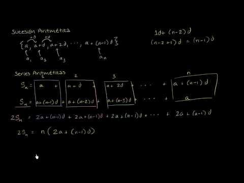 Fórmula de la serie aritmética (video)   Khan Academy