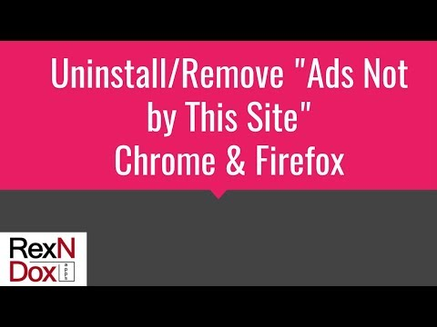 How to Uninstall/Remove Ads Not by this Site – Virus Removal
